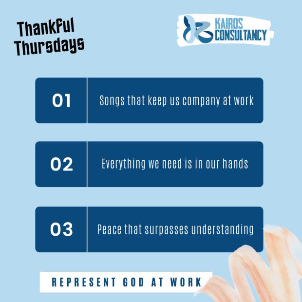 Kairos Consultancy Group: Thankful Thursdays - August 2021.