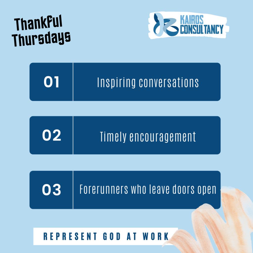 Thankful Thursdays | Kairos Consultancy Group