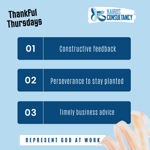 Kairos Consultancy Group: Thankful Thursdays - October 2021.