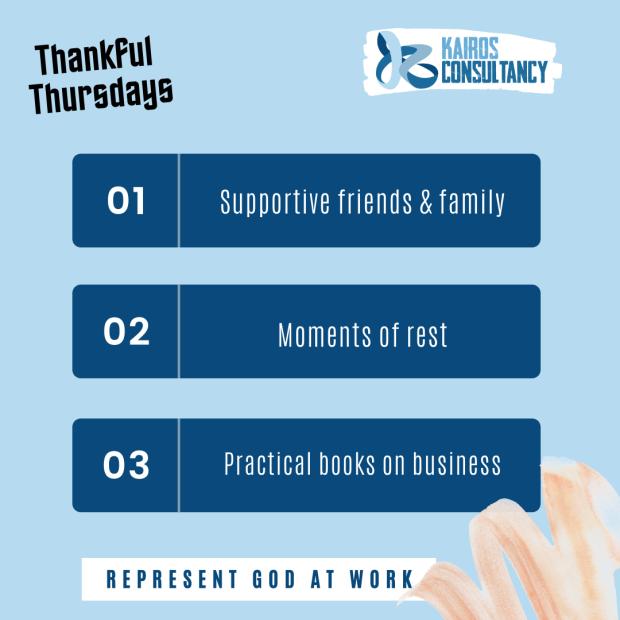 Kairos Consultancy Group: Thankful Thursdays - September 2021.